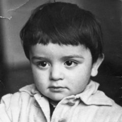 Aram, three-years old. Yerevan. 1955