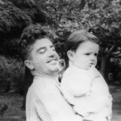 Edward Issabekian with little Aram. 1955