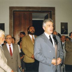 At the opening ceremony of Aram Issabekian exhibition in the National Gallery of Armenia. 1999