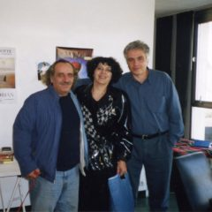 With artists Alik and Zhanna Avetissian in a Paris studio. 2000