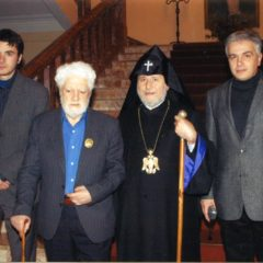 With the Catholicos of All Armenians, His Holiness Karekin II, Ejmiadzin. 2004