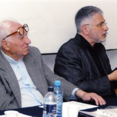 With architect Jim Torossian at the examination. 2008