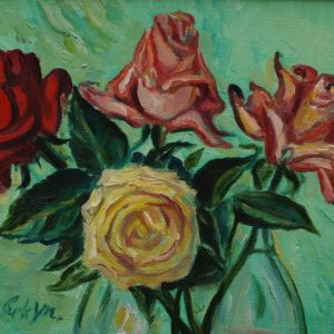 Roses․ Study, 2010, oil on canvas, 22x33