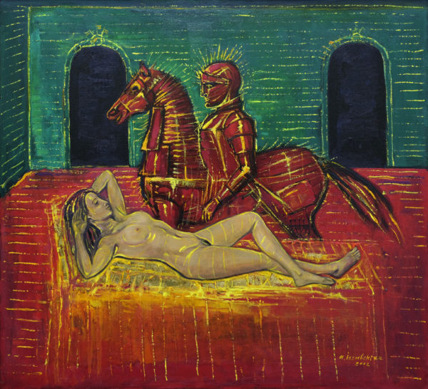 Knight and the Woman. 2002, oil on canvas, 100x90