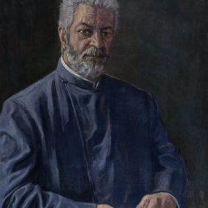 Portrait of Archbishop Navasard Kchoyan, 2017, oil on canvas