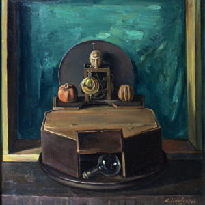 Still Life with an Egyptian Statuette. 1997, oil on canvas, 60x50